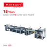 Full UV Varnishing Machine With Feeder Coating, Sheet Cleaning Unit, UV Or IR dryer and Auto Stacker.