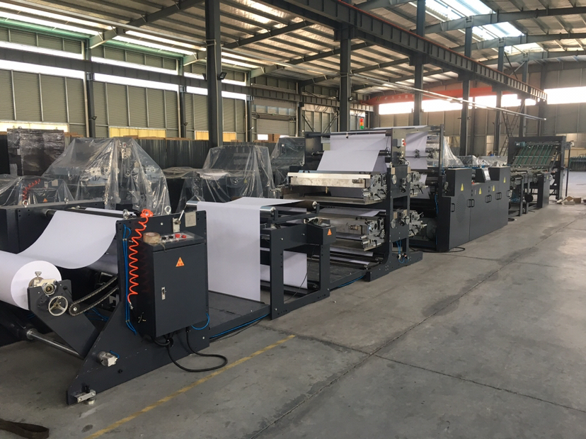Exercise Book Flexo Ruling Machine With Two Cover Feeder And With Stacker